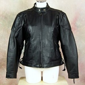 Event Leather Women's XL Lined Motorcycle Jacket